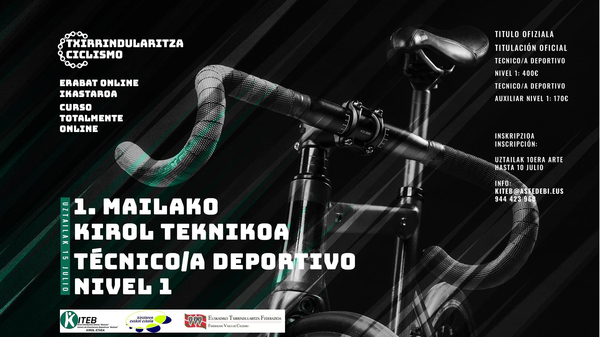 Curso de Técnico en Ciclismo Nivel 1