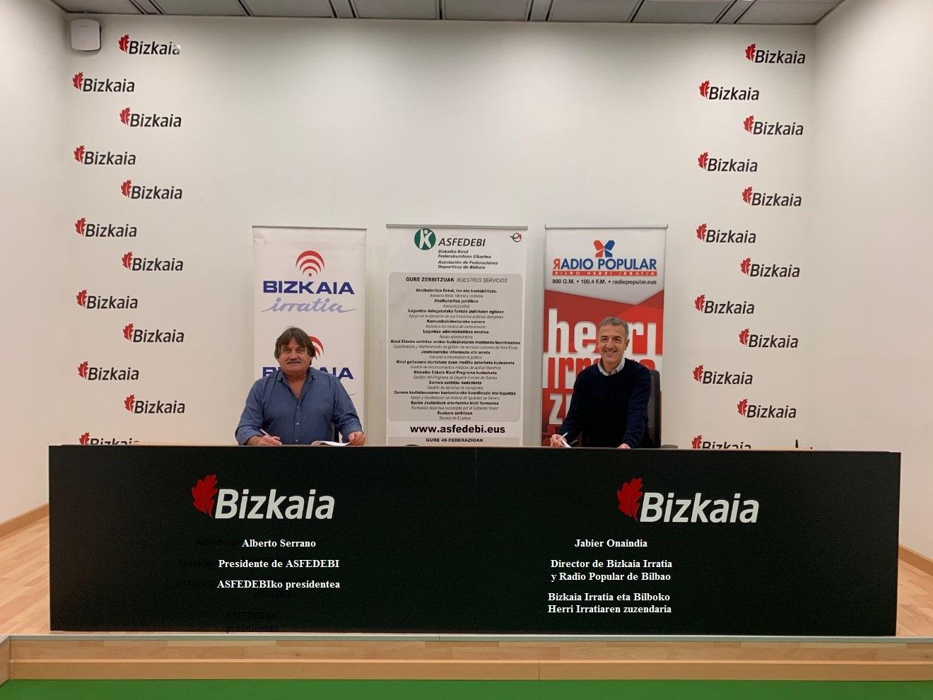 Acuerdo con Bizkaia Irratia - Radio Popular de Bilbao